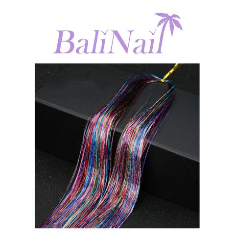 Блестящие пряди (нити) для волос #5 (разноцвет. голограф.)