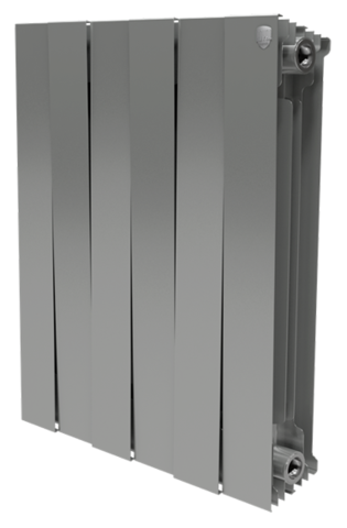 RoyalThermo PianoForte 500 Silver Satin, 12 секций - радиатор биметаллический