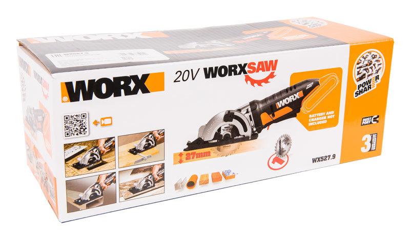 Дисковая пила аккумуляторная WORX SAW WX527.9 20В