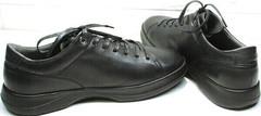Низкие кеды мужские - кроссовки для длительной ходьбы осень весна Ikoc 1725-1 Black.