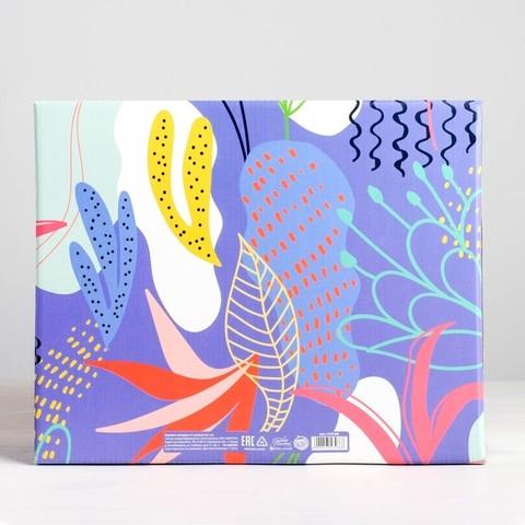Коробка подарочная Flowers, 31,2*25,6 см