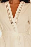 Кремовый женский халат B&B