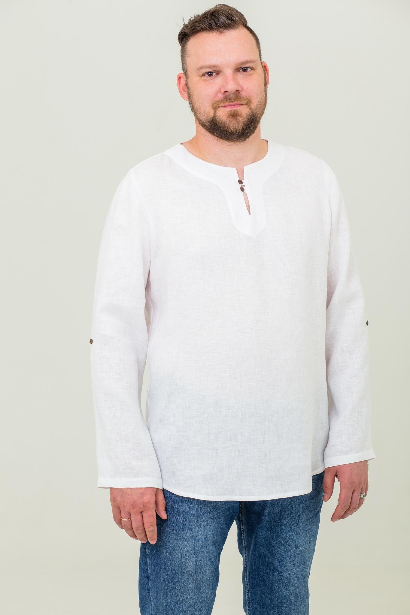 Русская рубашка льняная Свежий ветер