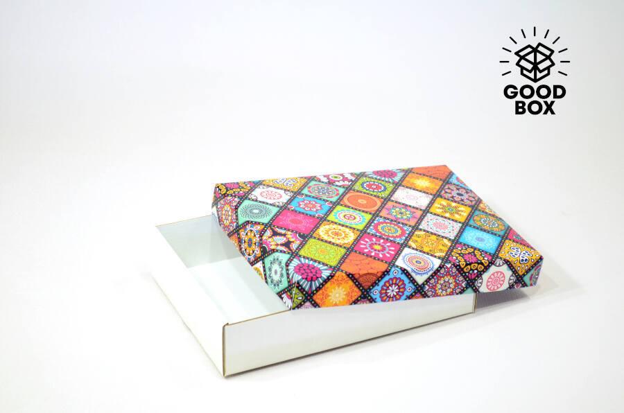 Подарочная коробка в этно стиле купить в Казахстане