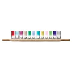 Набор разноцветных стопок для водки на подставке Paddle LSA International, 12 шт, фото 3