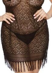 Сорочка с узорами из сетки с бахромой Geali (BS)