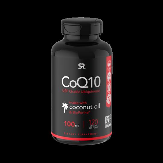 Коэнзим Q10,100 мг, CoQ10, Sports Research, (120 капсул)