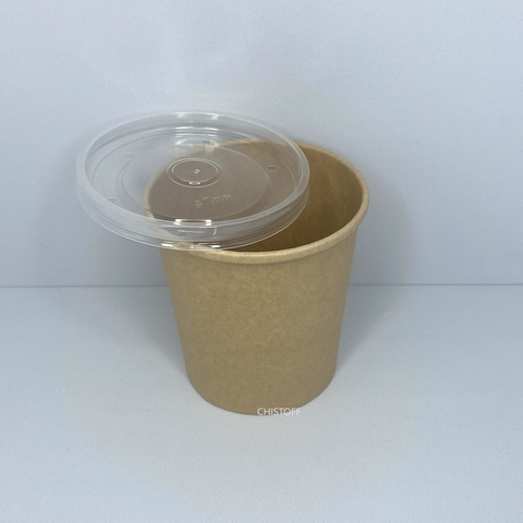 Салатник бумажный с крышкой ( контейнер)