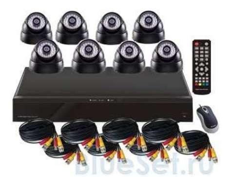 Mobidick Комплект для видеонаблюдения: DVR и 8 купольных камер SWDVR8D
