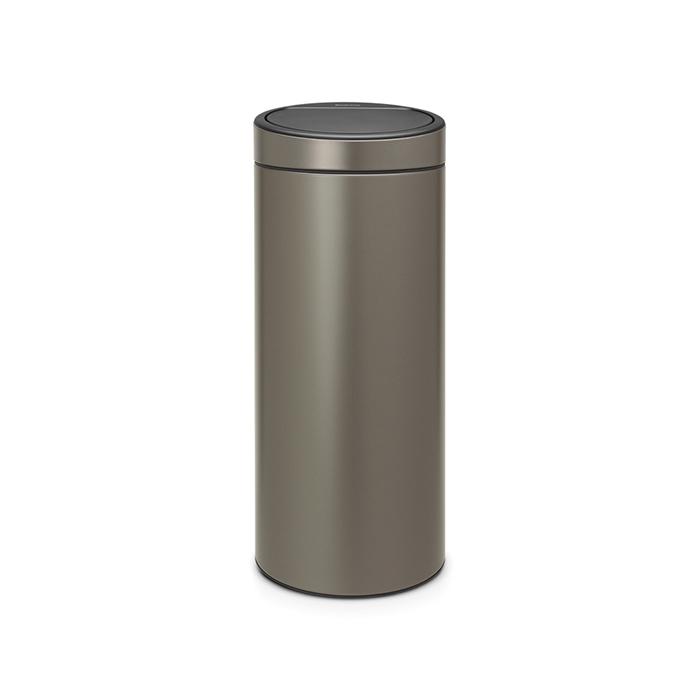 Мусорный бак Touch Bin New (30 л), Платиновый, арт. 115363 - фото 1