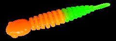 Силиконовые приманки Trout Bait Chub 65 (65 мм, цвет: Оранжево-зелёный, запах: чеснок, банка 12 шт.)