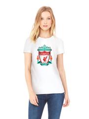 Футболка с принтом FC Liverpool (ФК Ливерпуль) белая w0010