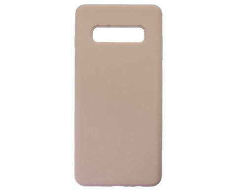 Чехол для Samsung (G975F) Galaxy S10+ Софт тач мягкий эффект | микрофибра розовый песок