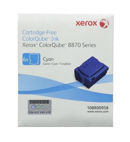 Оригинальный набор картриджей (твердые чернила) Xerox 108R00958, голубые (6шт)