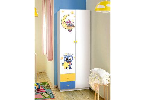Шкаф 2-х дверный комбинированный с ящиками Совята