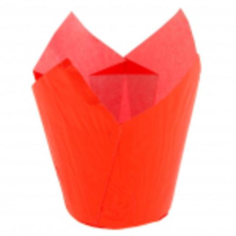 Форма-тюльпан красная,20шт