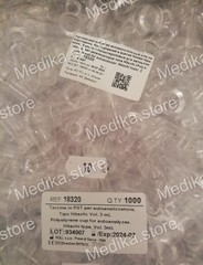 Капсулы полистироловые для автоматических автоанализаторов типа Hitachi (Polystyrene cup for autoanalyzer. Hitachi type) 3 мл уп.1000 шт ROLL s.a.s., Италия