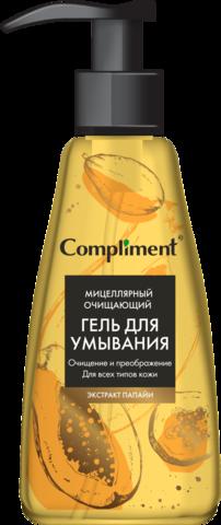 Compliment Мицеллярный очищающий гель для умывания с экстрактом папайи