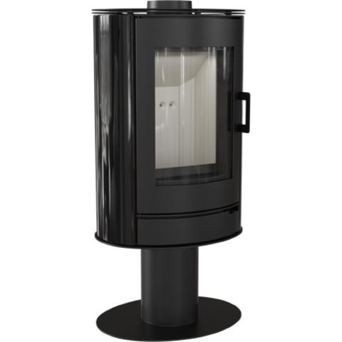 Печь-камин Kratki KOZA/AB/S/N/O/KAFEL/BIALY (сталь, кафель белый/черный/красный, поворотная) (8 кВт) Под заказ