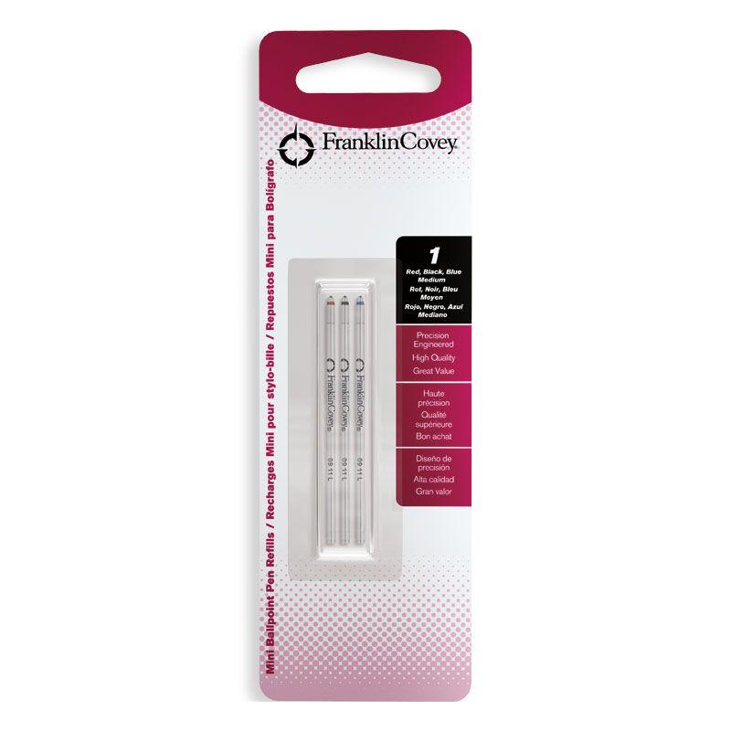 FranklinCovey Стержни шариковые для многофункциональных ручек, M, 3 цвета