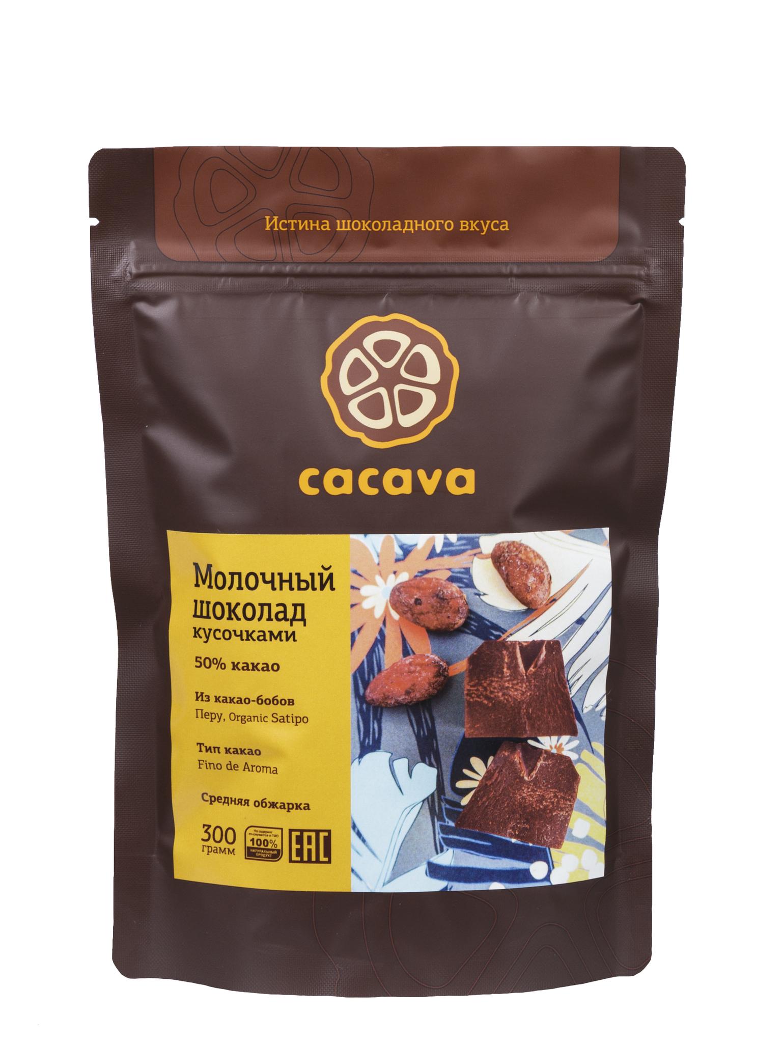 Молочный шоколад 50 % какао (Перу), упаковка 300 грамм