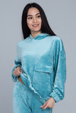 Велюровый костюм с капюшоном Pluto Chanti