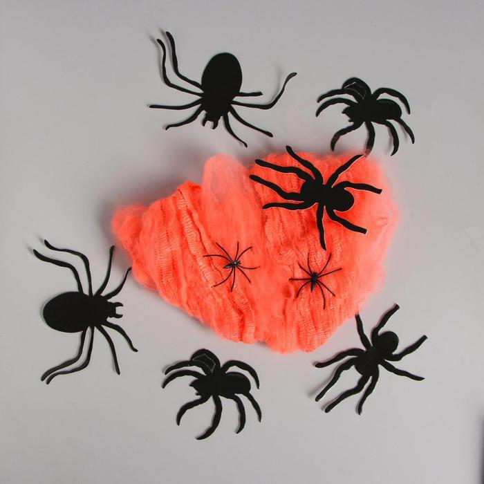 Карнавальный набор «Паучки», паутина, фигурки пауки
