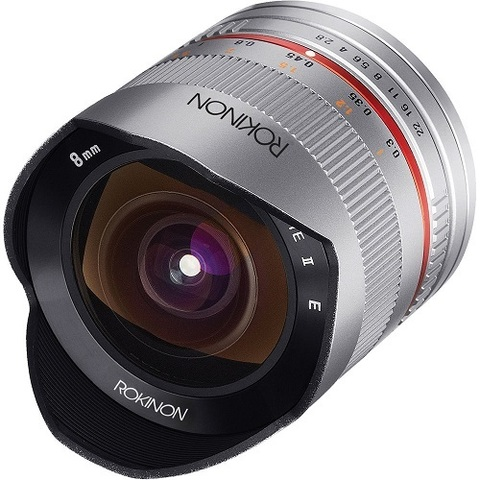 Объектив Samyang 8mm f/2.8 CS II Fisheye Silver для Sony E
