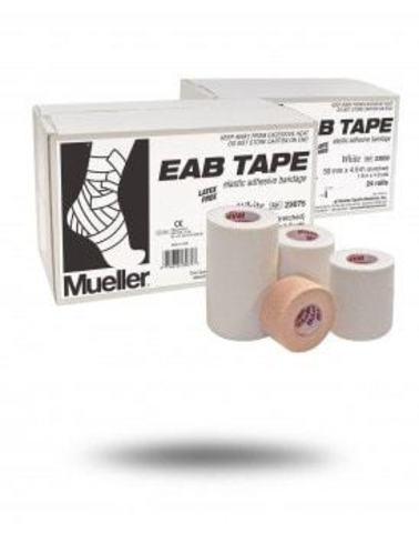 23025  NEW !!! ЕАВ Tape Сильный гибкий эластичный (2,5см-4,5м) Белый в уп.48 рул