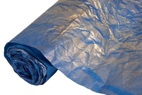 Бумага жатая эколюкс 70см х 5м темно-синяя/золото 24G
