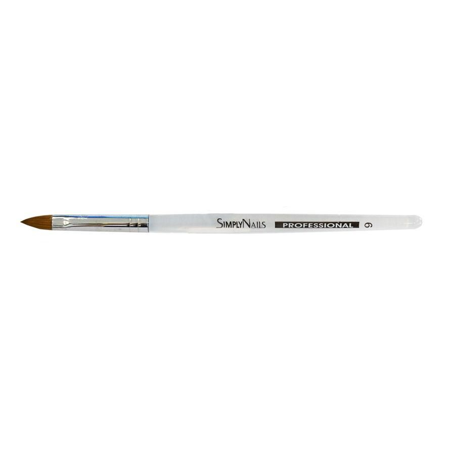Для акрила Simply Nails, Кисть акриловая с прозрачной ручкой № 6 Simply_Nails__Кисть_акриловая_с_прозрачной_ручкой___6.jpg