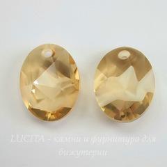 6911 Подвеска Сваровски Kaputt Oval Crystal Golden Shadow (26 мм)