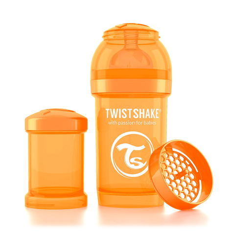 Twistshake бутылочка антиколиковая 180 мл. Оранжевая (Sunbeam)