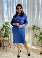 Саманта. Стильное платье больших размеров. Деним