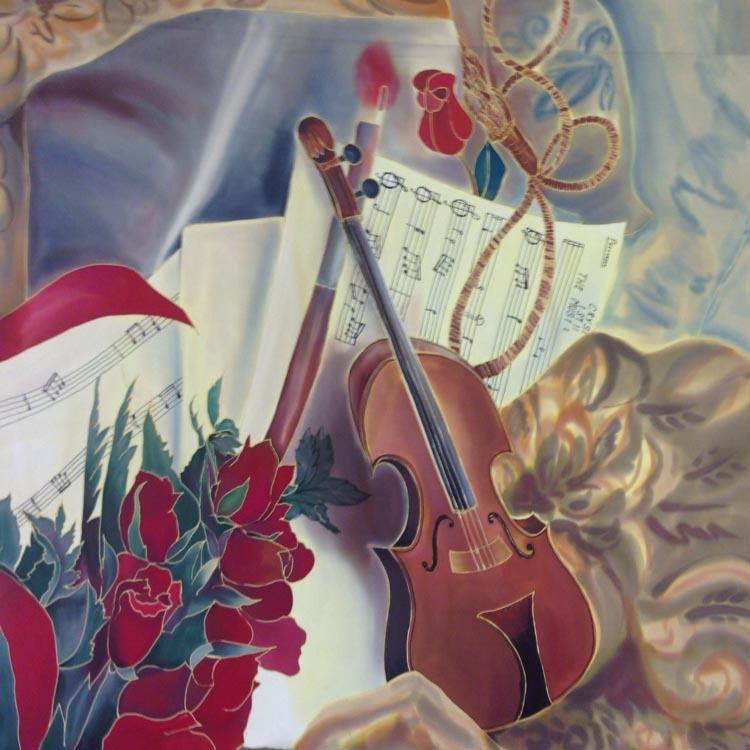 Шелковый платок Музыка скрипки