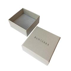 BUNTARKA Коробка с крышкой, серая