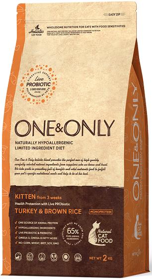 Сухой корм Корм для котят в возрасте от 3 недель, ONE&ONLY Turkey & Rice KITTEN, с индейкой и рисом Индейка_с_рисом_котята.png