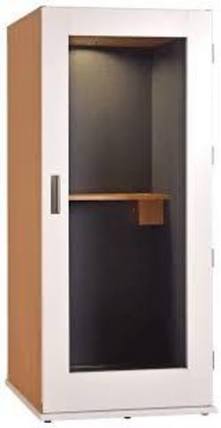 Офисная телефонная будка 25Дб, габариты  110 х 110 х 210  отделка листовой акустический поролон