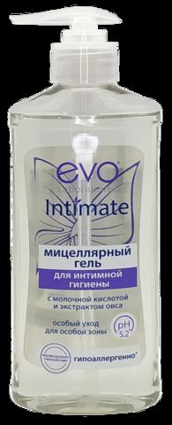 EVO. Мицеллярный гель для интимной гигиены с молочной кислотой и экстравктом овса, 275 мл