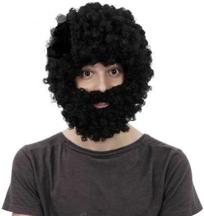 Парик ''Афро'' с бородой