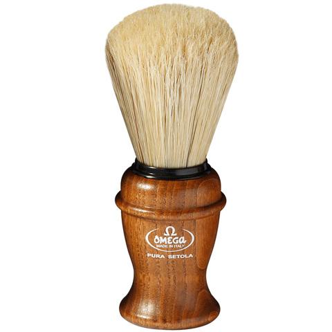 Помазок Omega 11137 кабан деревянная ручка