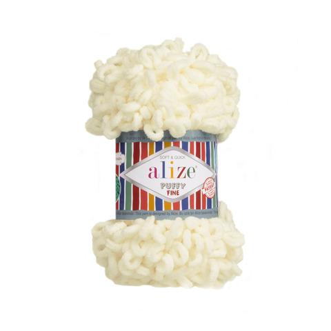 Купить Пряжа Ализе Пуффи Файн Код цвета 062 | Интернет-магазин пряжи «Пряха»