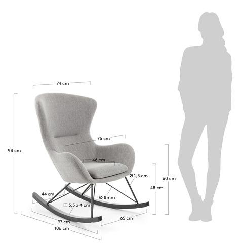 Кресло-качалка Valsa серое