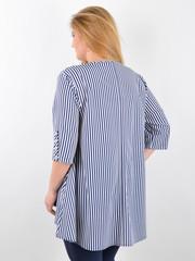 Галактика. Блуза вільного крою plus size. Синій+білий.