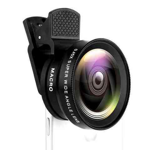 2 функции объектив мобильного телефона 0.45X Широкоугольный объектив и 12.5X макро объектив камеры высокого разрешения универсальный