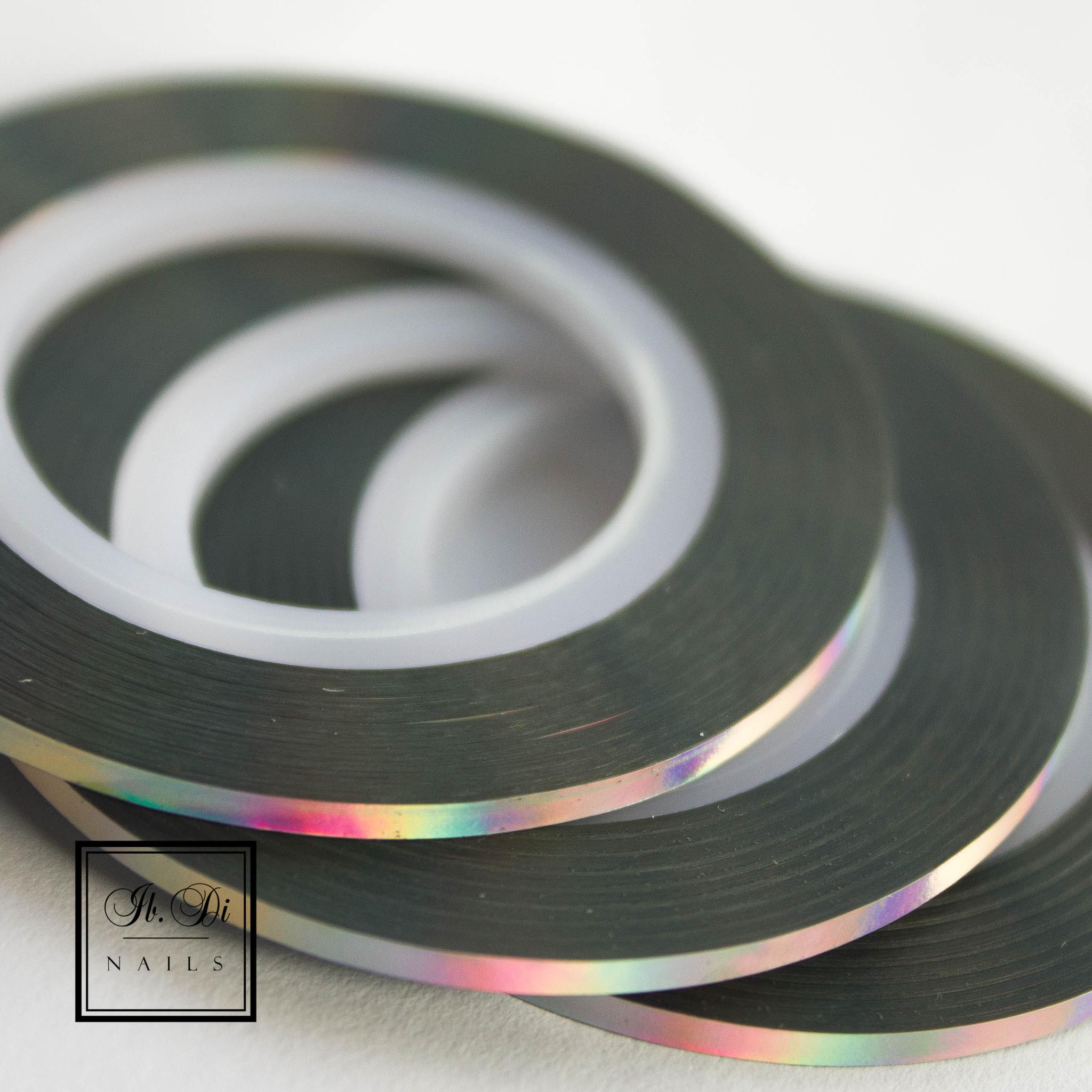 Лента самоклеющаяся серебро голография 2мм