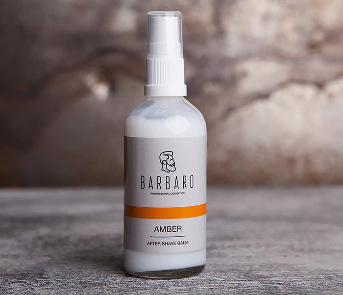 RAZ1050 Жидкий крем - бальзам после бритья AMBER от Barbaro (100 мл)