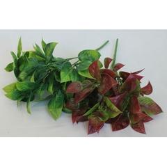 Искусственная зелень листья базилика, букет 5 веток, 34 см.