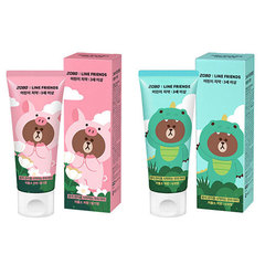 Детская зубная паста CHARACTER WORLD 2080 Line Friends Kids Toothpaste 60g Strawberry 2ea + Apple 2ea