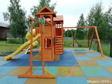 Детская площадка Клубный домик Макси с трубой